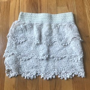 Anthropologie Lace Skirt